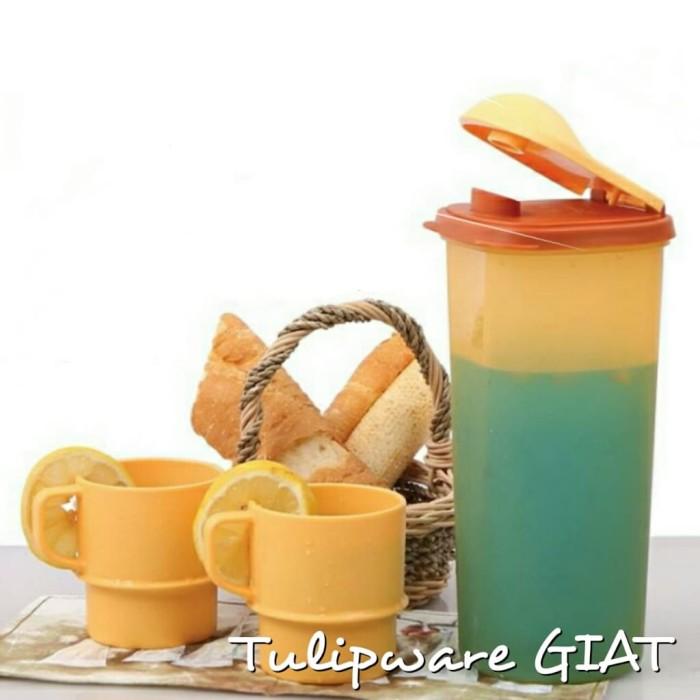 Foto Produk Pitcher Anti Tumpah + Mug / Gelas Kopi / Fridge Pitcher tulipware dari TULIPWARE collection