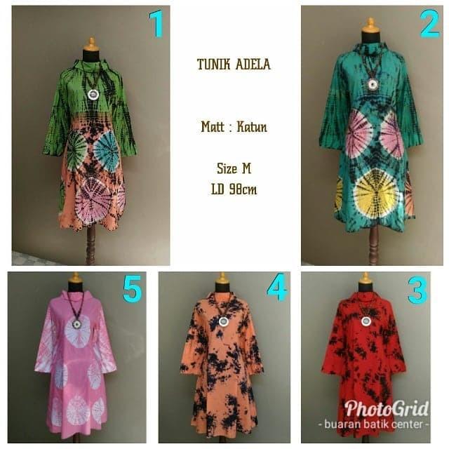 Jual Tunik Adela Batik Jumputan Shibori Modern Kekinian Size M Kota Pekalongan Model Baju Modernku Tokopedia