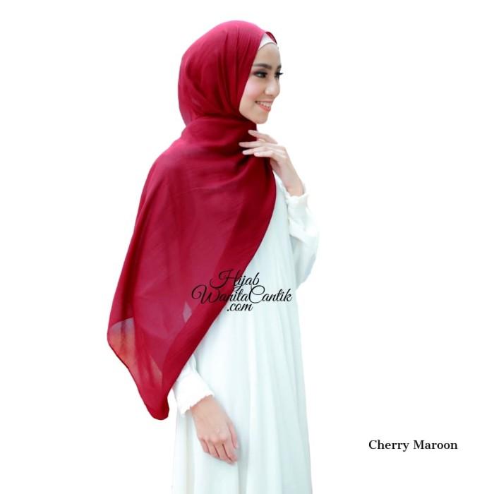 Pashmina hijab jilbab kerudung dubai voal warna cherry maroon
