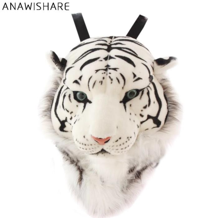 Jual ANAWISHARE 3D Harimau Kepala Ransel Kartun Hewan Singa Tas Putih -  Kota Semarang - Grease Store   Tokopedia