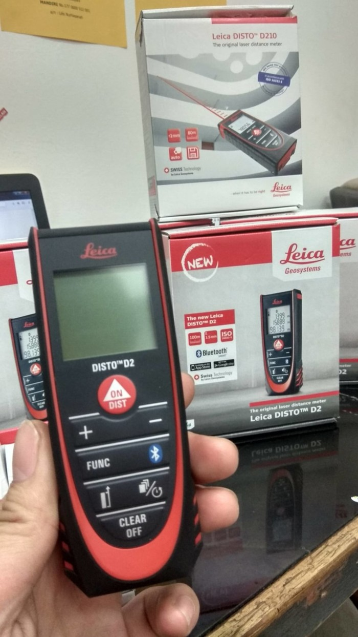 Jual BEST SELLER Leica DISTO D2 New 100m Laser Distance Measure with AAZD -  Cuan_Mall | Tokopedia