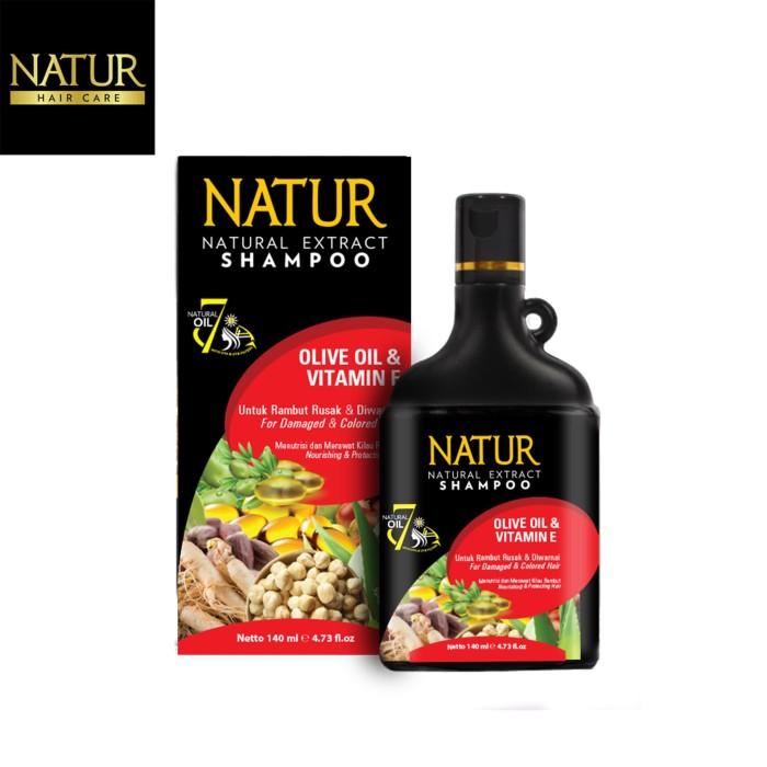 Foto Produk Natur Shampoo Olive Oil & Vitamin-E 140 ML dari Back To Natur