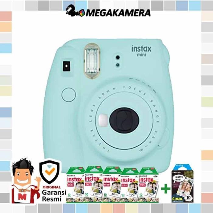 harga Fujifilm instax mini 9 ice blue + paper polos 5 pack Tokopedia.com