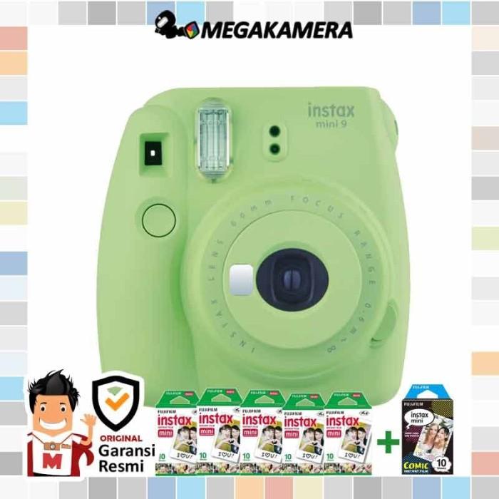 harga Fujifilm instax mini 9 lime green + paper polos 5 pack Tokopedia.com