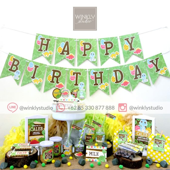 photograph about Printable Dinosaur identify Jual Dinosaur Dessert Desk Lovable Corner Get together Printable Pesta Ultah Dino - Backdrop Established - Kota Surabaya - winklystudio Tokopedia