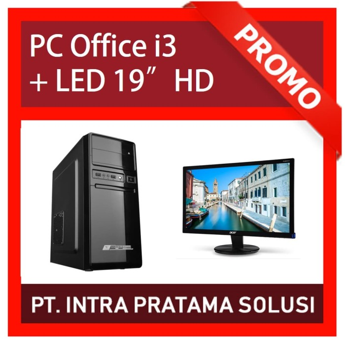 Foto Produk PC Rakitan Core i3 Lengkap (Siap Pakai, untuk Office / Admin) dari PT. Intra Pratama Solusi