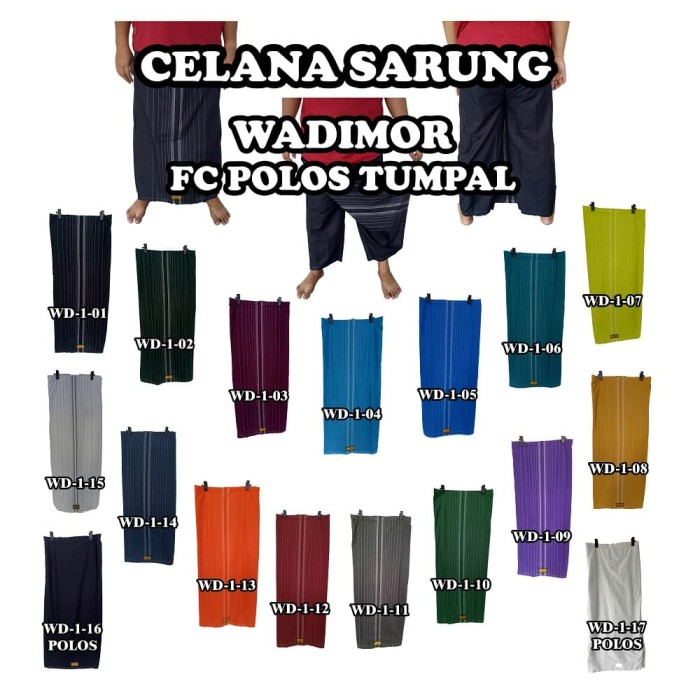 Foto Produk Sarung Celana Dewasa Wadimor dari Produsen Celana Sarung