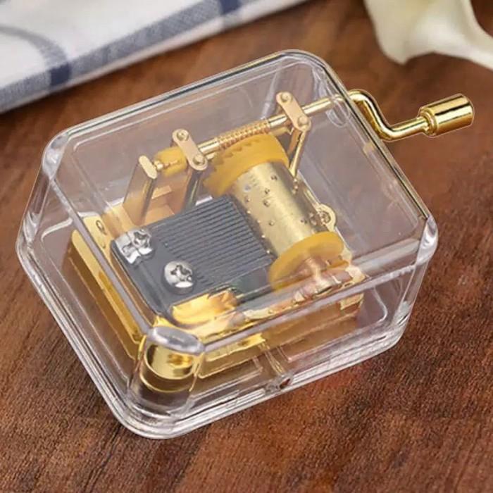 harga Kotak musik pelengkap kado hadiah ulang tahun - acrylic music box Tokopedia.com