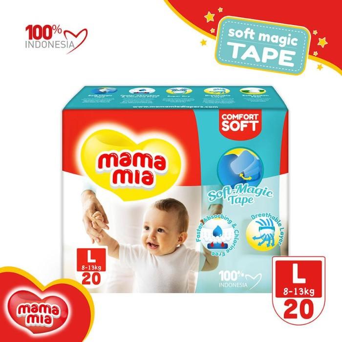 Mamamia baby diapers soft magic tape popok bayi tipe perekat l20