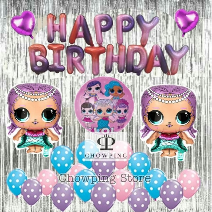 Jual Lol01 Set Balon Dekorasi Ulang Tahun Birthday Tema Lol Surprise Jakarta Barat Chowpingstore Tokopedia