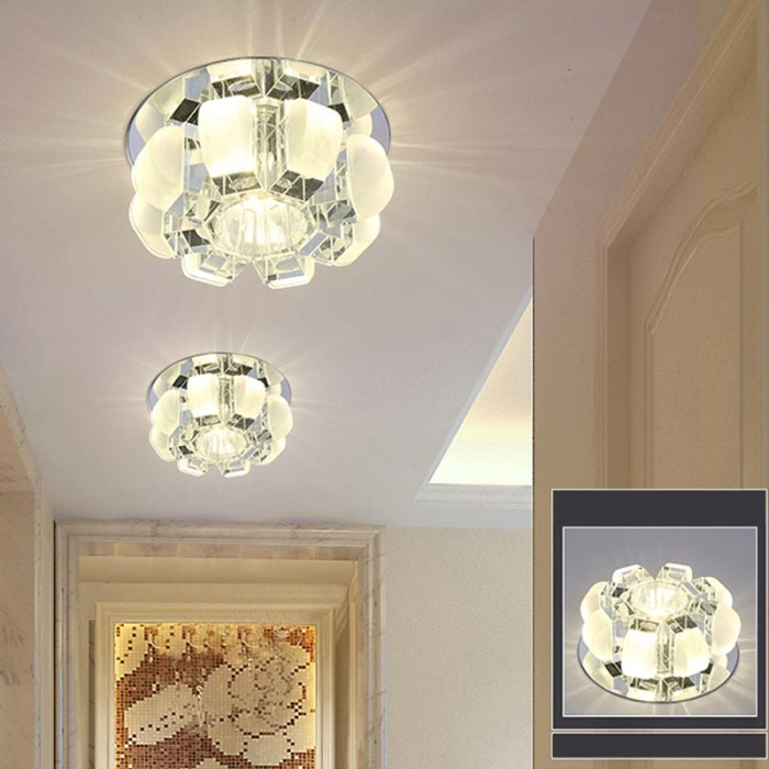 3w Led Crystal Ceiling Light Fixtures