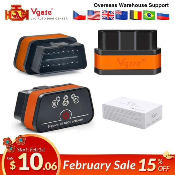 Jual Vgate Icar2 Bluetooth/wifi Obd2 Diagnostic-tool Elm327 Obd 2 Scanner -  Kota Surabaya - Macbox Mart | Tokopedia