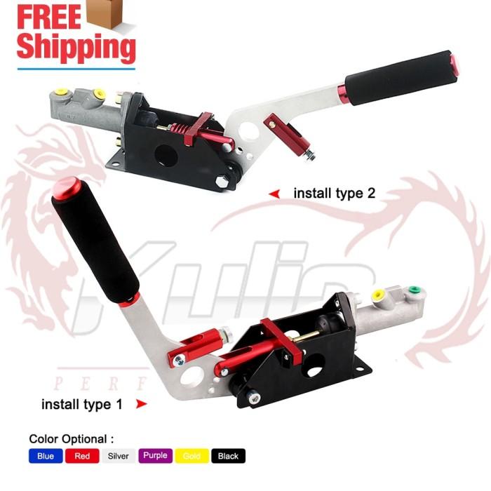 Black Grip Lever Hydraulic Ebrake Hand Brake Arm Assembly Unit Drift Racing