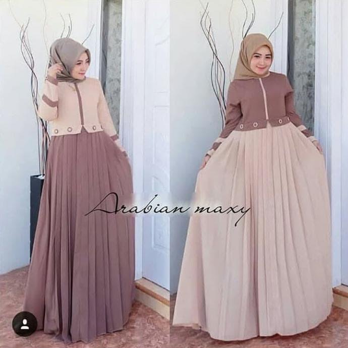 Jual Hot Sale Baju Gamis Wanita Terbaru Gamis Arabian Maxy Dress