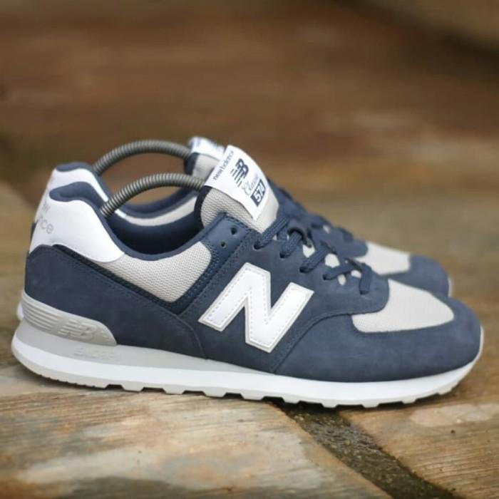 premium selection 3d920 a4cb6 Jual Nb 574 classic navy white grey (size 45) - Naafi Sneakers | Tokopedia