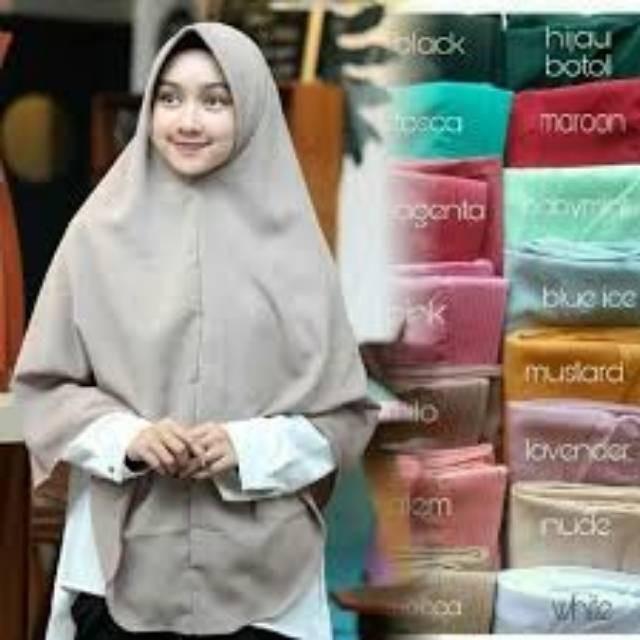 Foto Produk Best Seller Khimar Syari OVAL Bergo Jumbo 90cm x 120cm dari tokomearamarva