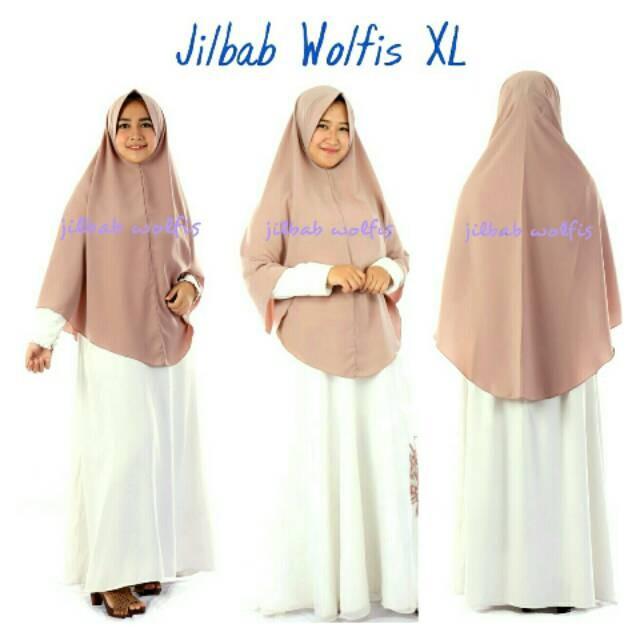 "Foto Produk SERI 1 Jilbab Instan WOLFIS Wolpeach Wolfis size XL ""TANPA SERUT"" dari tokomearamarva"