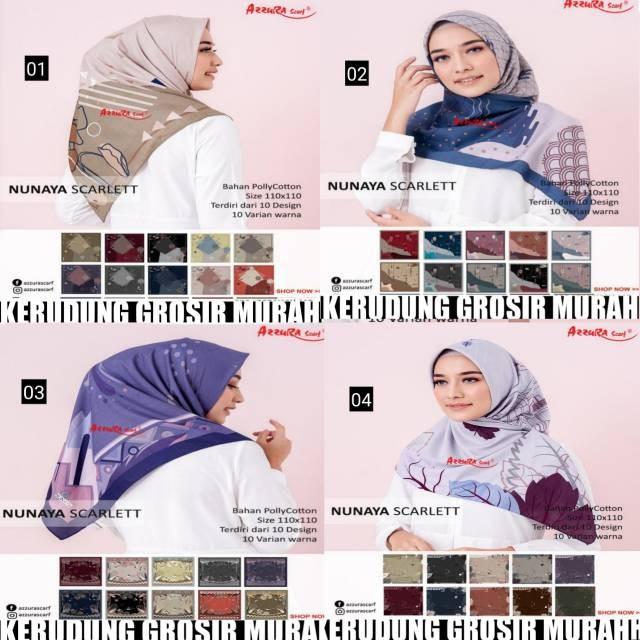 Foto Produk Nunaya scarlett azzura scarf dari tokomearamarva
