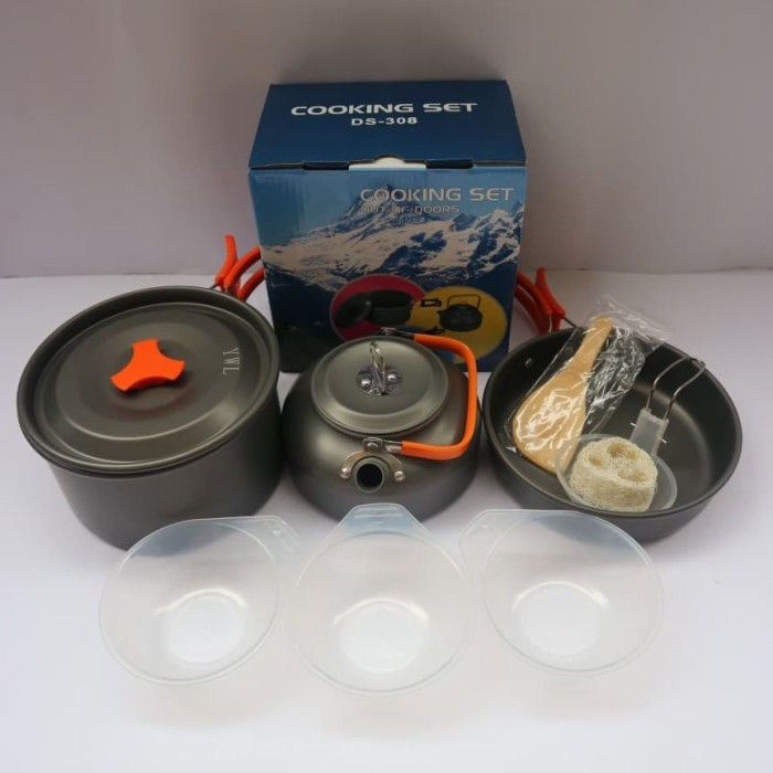 Foto Produk paket cooking set ds 308 plus teko dari dpeakoutdoor