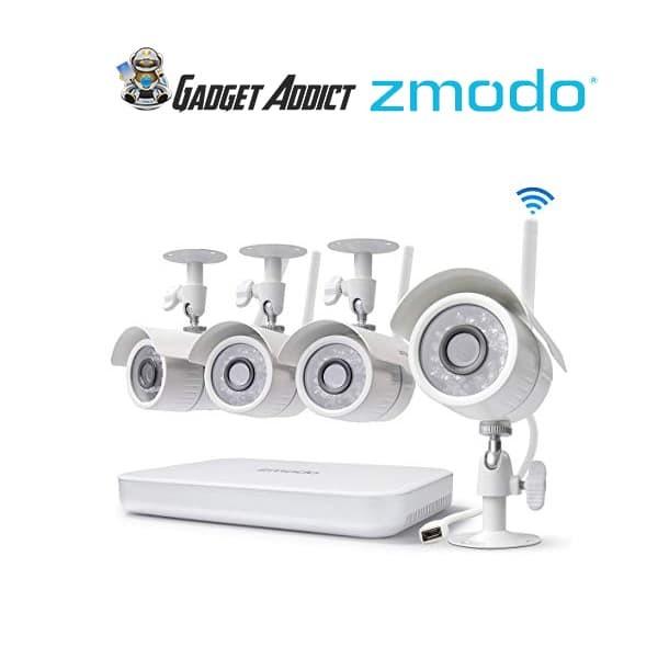 harga Zmodo 8ch wireless security camera system (4 cameras) Tokopedia.com