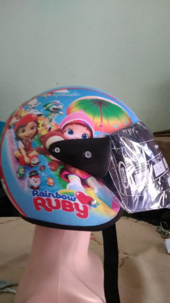 Jual Helm Anak Standar Rainbow Ruby Biru Jakarta Utara Widyashop19