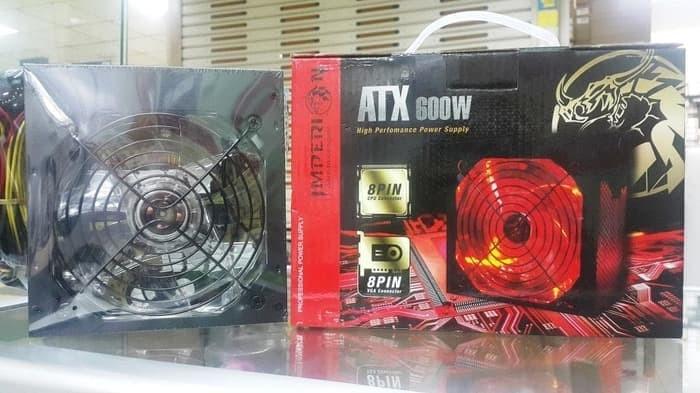 Jual Power Supply Imperion 600 Watt ATX 8 Pin VGA LED Fan - Kota Yogyakarta  - MX Komputer | Tokopedia