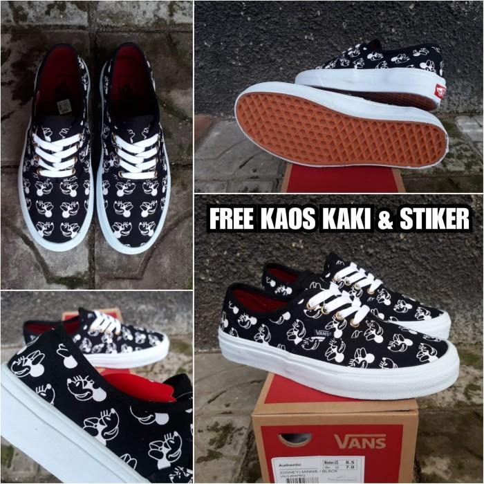 save off b59e9 0ded8 Jual SEPATU VANS AUTHENTIC DISNEY MINNIE BLACK PREMIUM BNIB - Hitam, 37 -  Kota Bandung - Kujang Store | Tokopedia