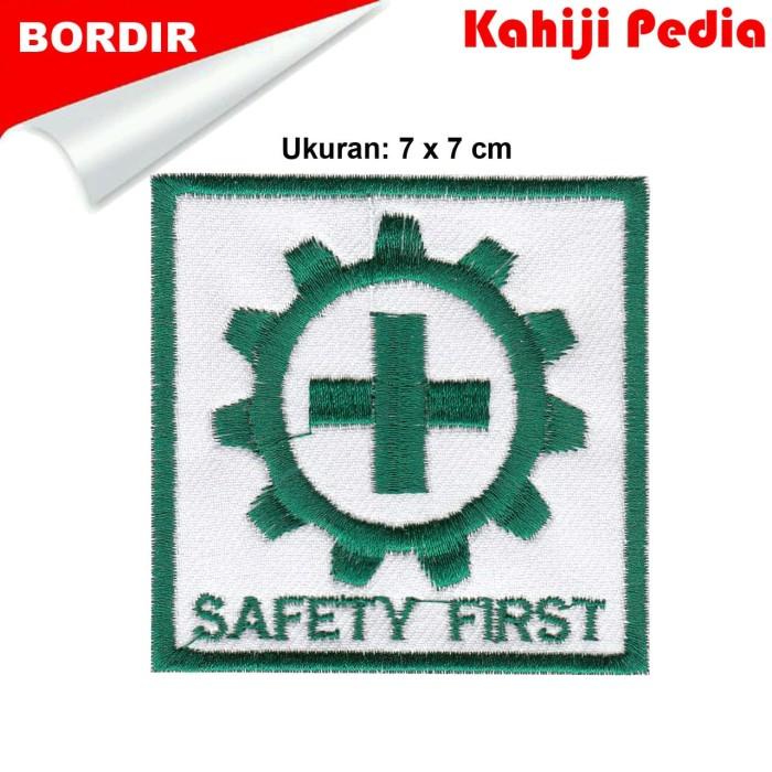 Jual Patch Bordir Emblem Bordir Logo K3 Safety First Kab Bandung Kahiji Pedia Tokopedia