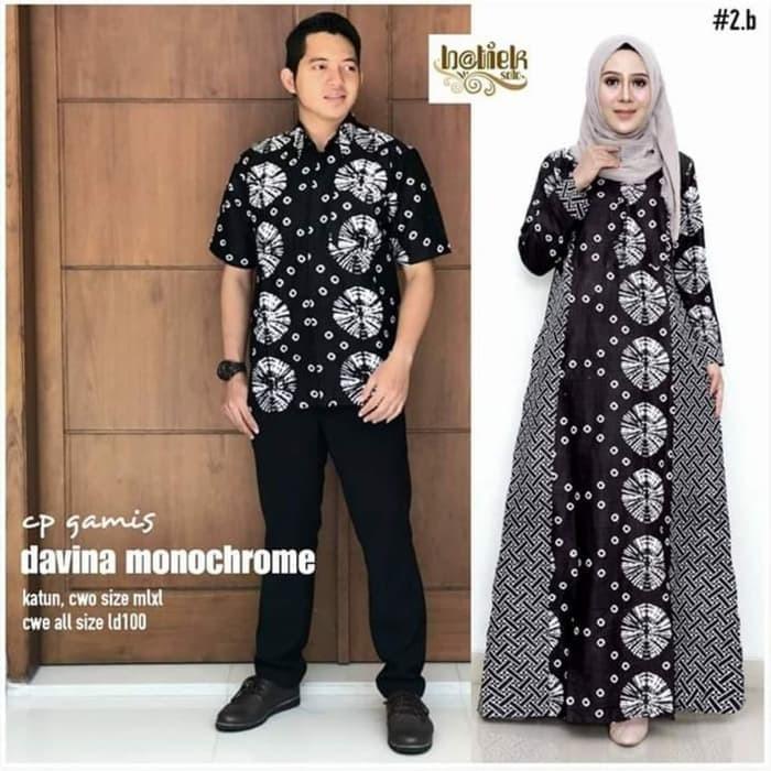 Jual Couple Gamis Davina Baju Batik Couple Gamis Kombinasi Batik Keluarga Kota Pekalongan Ilul Sy Batik Tokopedia
