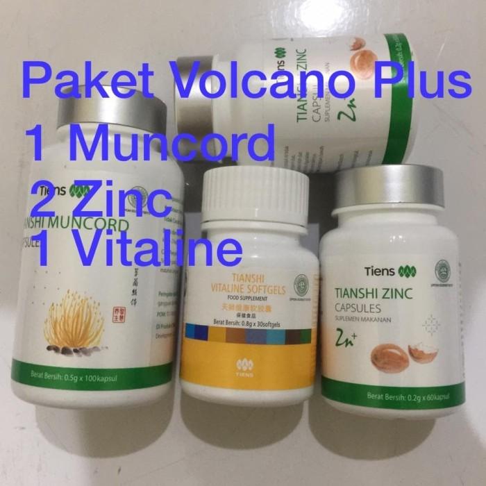 Foto Produk Paket Bombardir Tiens Volcano Plus Tiens 2 Zinc 1 Muncord 1 Vitaline dari Hendes Shop
