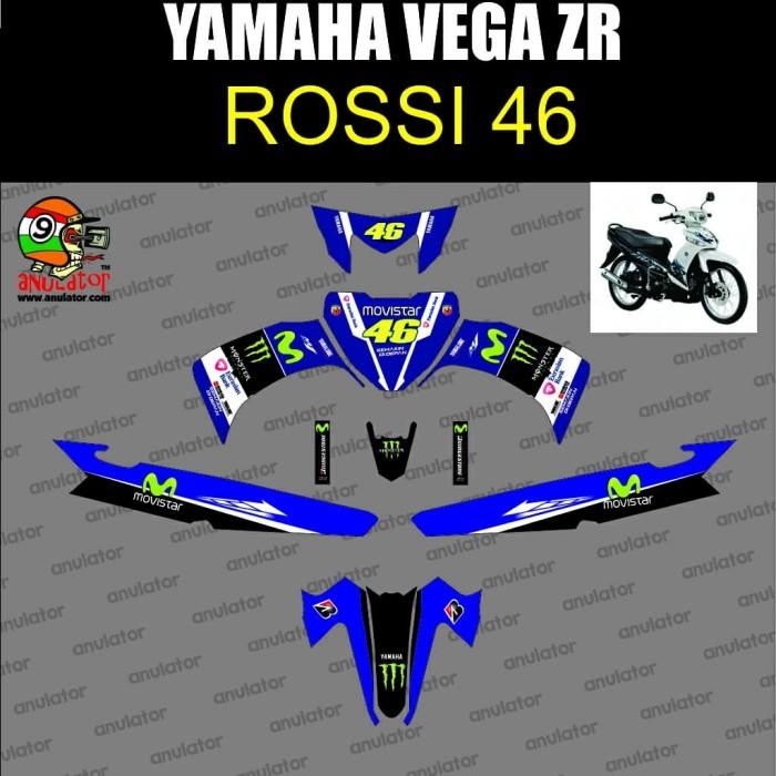 Foto Produk Stiker Striping Motor Stiker Yamaha Vega ZR Movistar Rossi Biru dari anulator-custom
