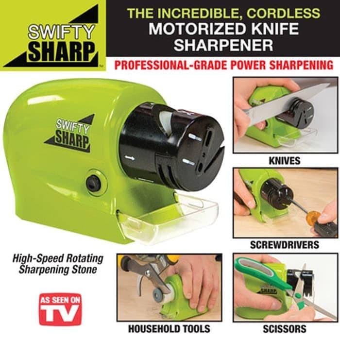 Foto Produk Swift Sharp Cordless Alat Pengasah Pisau Automatis Penajam elektrik dari lbagstore