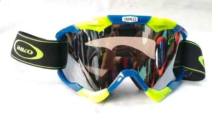 Kacamata cross Goggle INKO Warna Hijau Biru