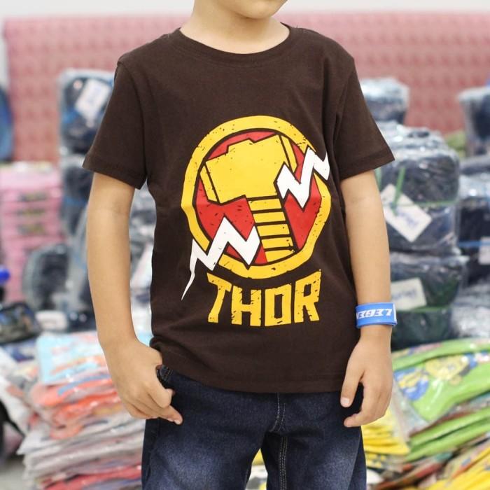 Foto Produk Baju Kaos Anak Thor Superhero Premium Terlaris Grosir Termurah - Grosir 12pcsMIX dari NAZAH KIDS ID
