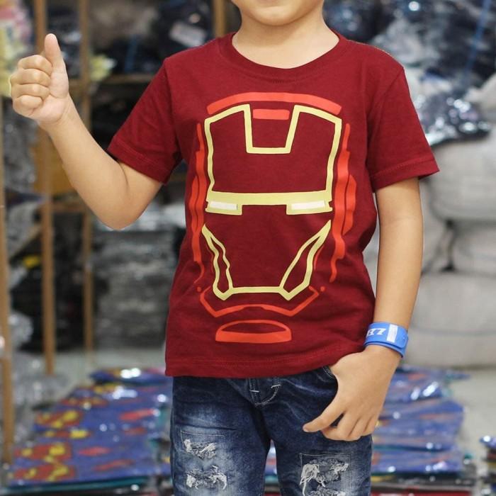 Foto Produk Baju Kaos Anak Ironman Premium Terlaris Grosir Termurah - 1-2 tahun dari NAZAH KIDS ID
