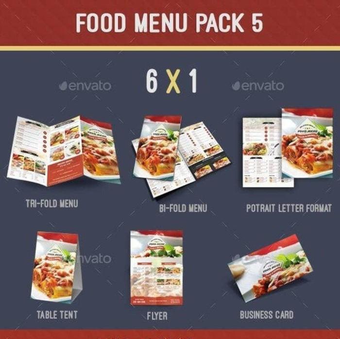Jual Template Tema Desain Design Menu Makanan Food Lengkap