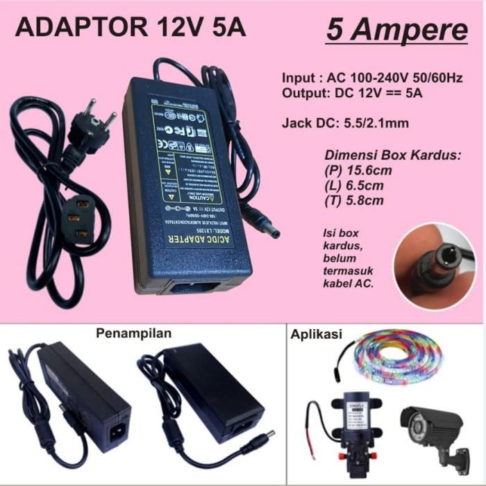 Foto Produk Adaptor 12V 5A dari Mitra Abadi LED