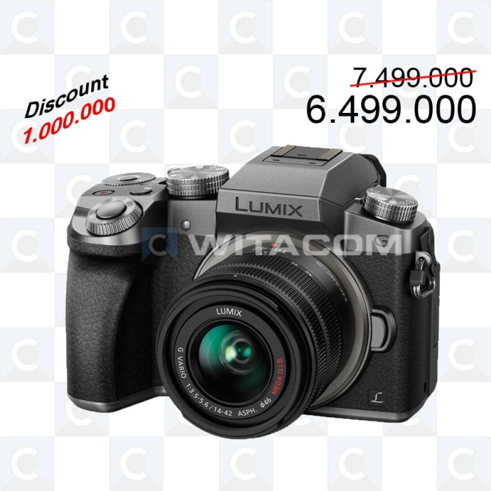 harga Panasonic g7k kit 14-42mm - silver Tokopedia.com