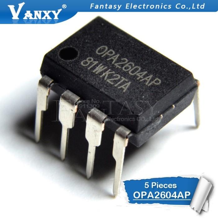 4 X OPA2604AP OPA2604 DUAL FET INPUT OP AMPLIFIER IC/'S