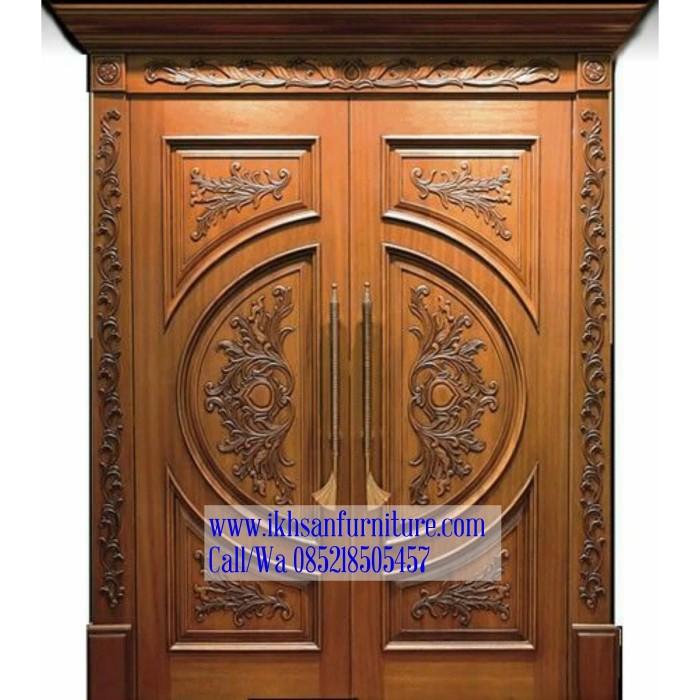 Jual pintu utama rumah mewah ukiran, model pintu rumah ...