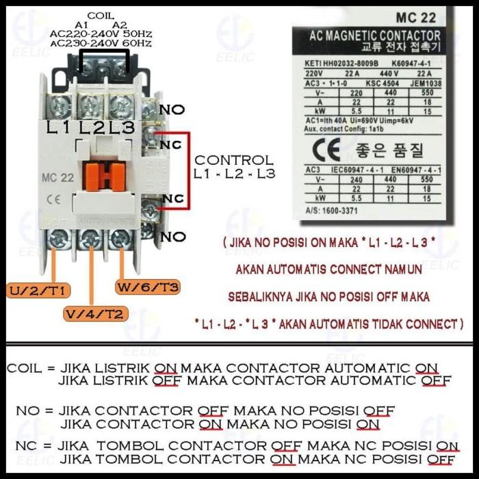 Jual jual EELIC COM-MC22 Contactor Magnetic 22A Coil Voltage 220V-240V 50 -  - Kota Surabaya - bungacitra1   Tokopedia