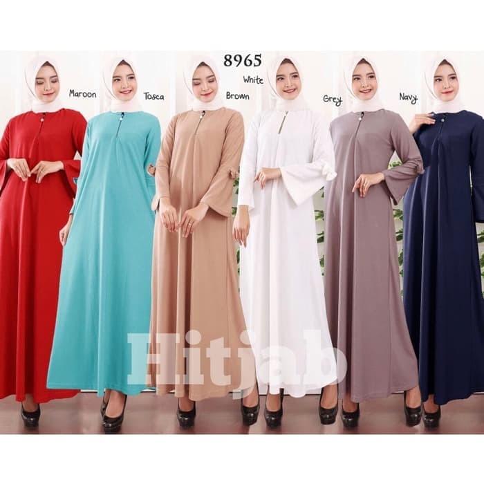 Model Gamis Batik Kombinasi Wanita Modelemasterbaru