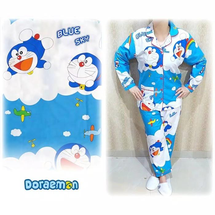Jual Baju Tidur Wanita Pp Doraemon Awan Xl Karakter Jakarta Barat Titi Shop1 Tokopedia