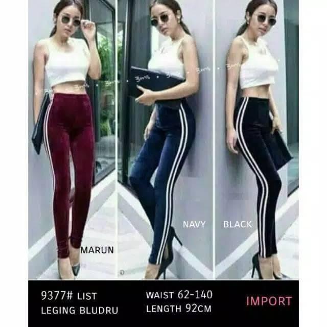 Jual Lucky Fashion Celana Legging Bludru Import Bahan Bludru Velvet Fit To Dki Jakarta Livina Shop Tokopedia