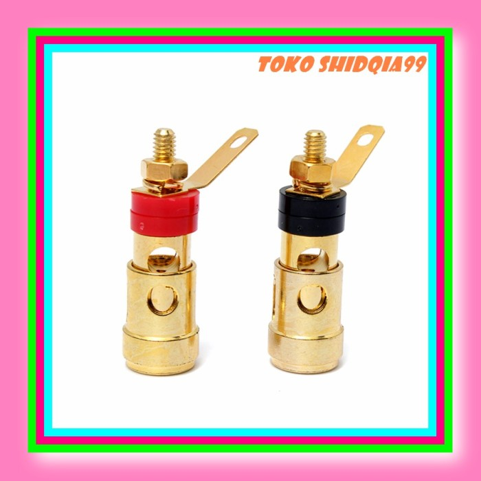 Binding Post Stereo Sub Connector 2x Spare Spring Clip Speaker Push Terminals
