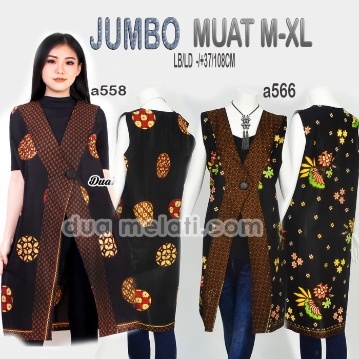 Jual Outer Batik Big Size Jumbo Atasan Batik Wanita A499 Dki Jakarta Dua Melati Tokopedia