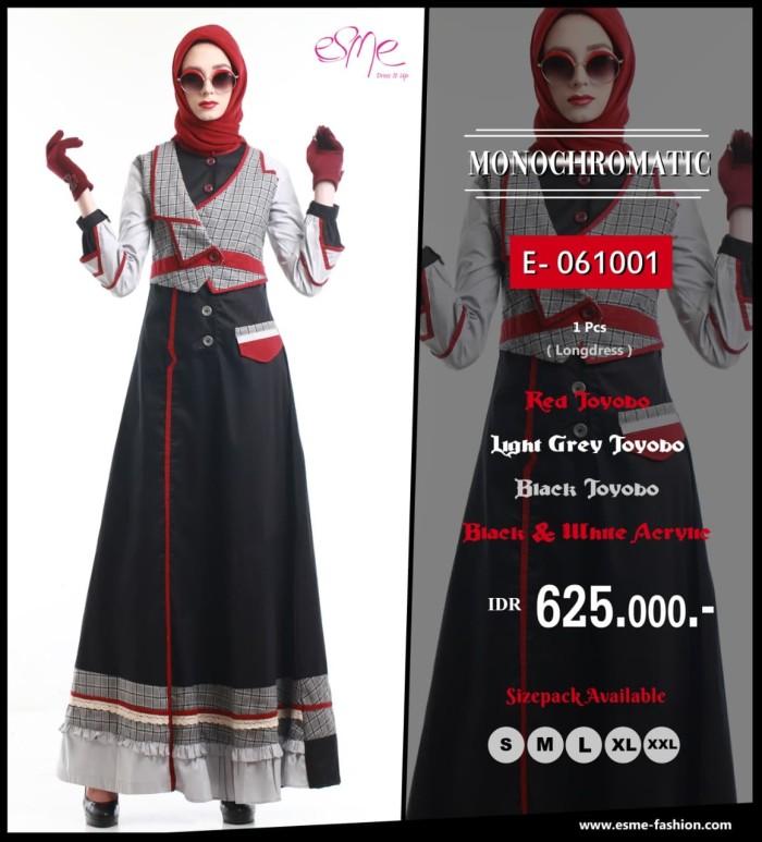 Jual Gamis Esme Monochromatic E 061001 Merah M Kota Bandung Assalam Busana Tokopedia