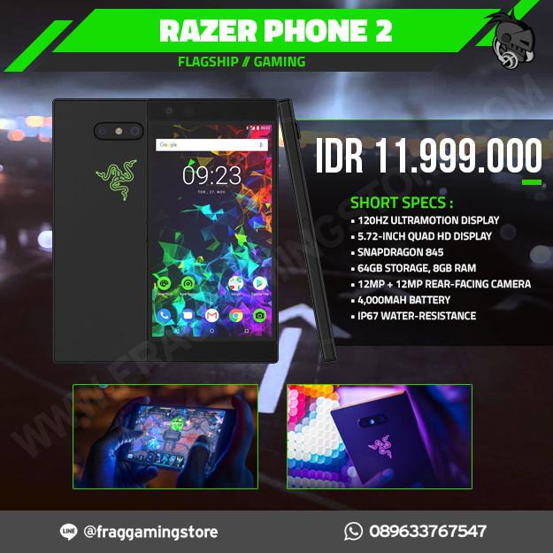 Foto Produk Razer Phone 2 Gaming Smartphone 8GB RAM 64GB Snapdragon 845 dari FRAG GAMING STORE