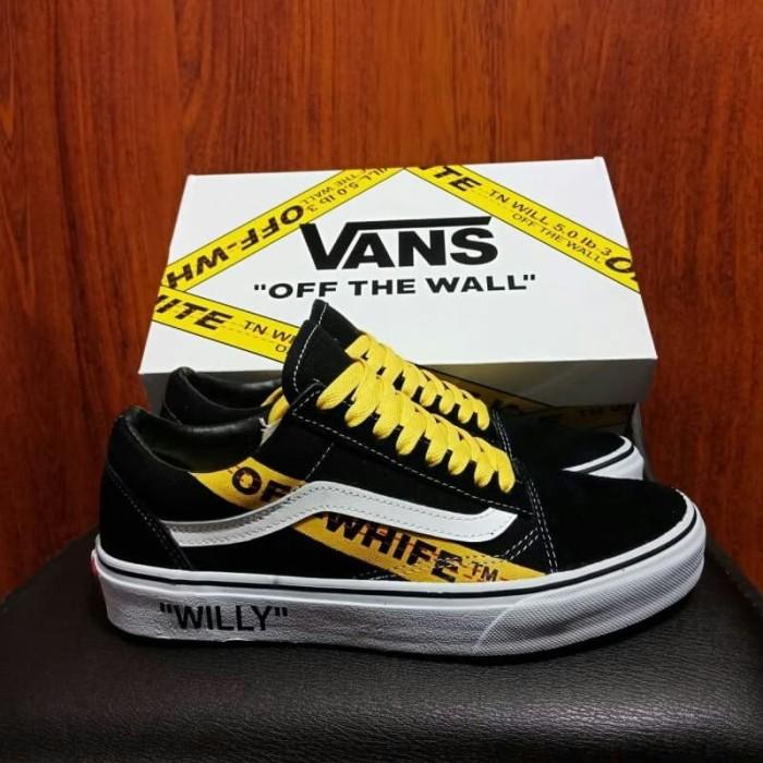 Jual VANS OLDSKOOL OFF WHITE WILLY BLACK YELLOW IMPORT BNIB PREMIUM ORI Kota Bandung buyut sneakers indonesia | Tokopedia