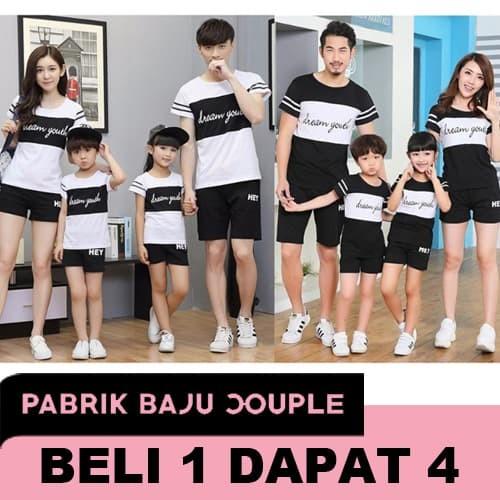 Jual (2 warna) DREAM Family couple cp fm kaos keluarga 2 anak youth -  RANDOM - DKI Jakarta - Pabrik Baju Couple | Tokopedia